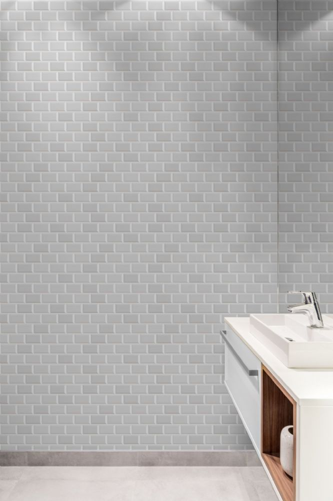 Graham and Brown Contour Metro White 103921 Wallpaper PB